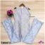 จั้มสูทลูกไม้แขนกุด กางเกงขายาวผ้าลูกไม้ลายดอก thumbnail 7
