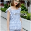 Lady Sophie Sweet Casual Baby Blue Lace Top and Shirts Set L251-89C02 thumbnail 2