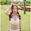 SM-V1-338 ชุดว่ายน้ำบิกินี่ทูพีช สีขาว แต่งผ้าลูกไม้สวย thumbnail 15