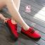 รองเท้าผ้าใบแฟชั่นแพลตฟอร์ม ทำจากผ้าใบสีทูโทนสดใสด้านนอก-ใน thumbnail 4