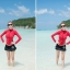 2044 ชุดว่ายน้ำแขนยาว สีแดง+ดำ เซ็ต 3 ชิ้น thumbnail 7