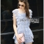 Lady Sophie Sweet Casual Baby Blue Lace Top and Shirts Set L251-89C02 thumbnail 3