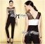 Lady Christine Sexy Monochrome Rose Embroidered Jumpsuit L153-79B05 thumbnail 2