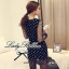 DR-LR-038 Lady Petra Timeless Chic Polka Dots Long-Sleeved Dress thumbnail 8