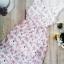 12513 แม็กซี่เดรสยาว แขนกุด สีขาว ลายดอกไม้สีชมพู thumbnail 3