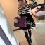 DR-LR-083 Lady Ballerina Stripe Black&White Mini Dress thumbnail 4
