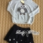Lady Owl Fur Sweater and Flower Embellished Skirt Set thumbnail 5