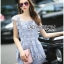 Lady Sophie Sweet Casual Baby Blue Lace Top and Shirts Set L251-89C02 thumbnail 6
