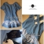 DR-LR-039 Emma Denim Layer Trim Mini dress thumbnail 5
