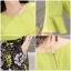 Daisy light green with flower black pants set thumbnail 11