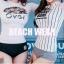 SM-V1-409 ชุดว่ายน้ำแขนยาว พื้นสีขาวสกรีนลายดอกไม้สวยๆ กางเกงบิกินี่สีดำ thumbnail 12