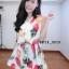 เดรสชีฟอง สไตล์สาวเกาหลีน่ารักๆ แต่งคอผูกเป็นโบว์เก๋ๆๆพร้อมเชือกทองผูกเอว thumbnail 3