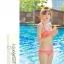 SM-V1-364 ชุดว่ายน้ำเซ็ต 3 ชิ้น สีส้มลายจุดขาว น่ารักๆ (บรา+บิกินี่+กระโปรง) thumbnail 14