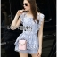 Lady Sophie Sweet Casual Baby Blue Lace Top and Shirts Set L251-89C02 thumbnail 14