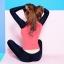 SM-V1-595 ชุดว่ายน้ำแขนยาว+กางเกงขายาว+เสื้อกล้ามเอวลอยสีดำ+บิกินี่ เซ็ต 4 ชิ้น (ส้ม-ดำ) thumbnail 11