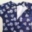 SM-V1-421 ชุดว่ายน้ำแขนยาว กางเกงบิกินี่ เสื้อมีซิปด้านหลัง สีน้ำเงินกรมท่า ลายดอกไม้ขาว สวยมาก thumbnail 4