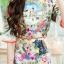 Dress เนื้อผ้าพิมลายดอกไม้ทั้งชุด thumbnail 3