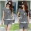 Lady Grace Smart Casual Check Printed Blouse and Shorts Set L200-79C06 thumbnail 10