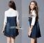 Lady Alisa Smart Chic Embellished Cotton and Denim Shirt Dress L212-75C03 thumbnail 5