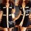 DR-LR-259 Lady Serene, Little Black Dress Gold Button thumbnail 4