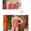 ชุดว่ายน้ำวันพีช สีแดงอมส้ม สวย thumbnail 2
