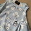 DR-LR-288 Lady Jenna Cut-Out Floral Print Baby Blue Flared Dress thumbnail 12