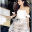 Lady Maria Sweet Sexy Stripy Ribbon Lace Dress L258-7903 thumbnail 8