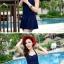 SM-V1-370 ชุดว่ายน้ำวันพีช สีน้ำเงินกรมท่า สายคล้องคอ กระโปรงระบายสวยๆ thumbnail 5