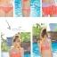 SM-V1-364 ชุดว่ายน้ำเซ็ต 3 ชิ้น สีส้มลายจุดขาว น่ารักๆ (บรา+บิกินี่+กระโปรง) thumbnail 10