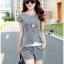Lady Grace Smart Casual Check Printed Blouse and Shorts Set L200-79C06 thumbnail 8