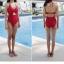SM-V1-663 ชุดว่ายน้ำวันพีชสีแดงสด คอสายผูก เว้าใต้อก thumbnail 11