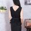 Dress ผ้าซาร่า แต่งผ้ามุ้งเย็บกุน2ชั้นมีสายผูกเอว thumbnail 7