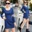 Slim thin long-sleeved dress denim skirt denim by Aris Code A243-79C05 thumbnail 7