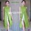 Set 2 ชิ้น เสื้อตัวยาวคอปีน แขนกุดผ่าหน้า ผ้าพิมพ์ลายไทย thumbnail 3