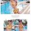SM-V1-383 ชุดว่ายน้ำเอวสูง เซ็ต 2 ชิ้น สีเหลืองลายสวย thumbnail 6