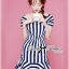 Lady Jenny '50s Style Mixed Striped Dress thumbnail 5