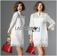 Lady Jane Classic Feminine Combined Lace Shirt Dress thumbnail 2