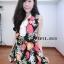 เดรสชีฟอง สไตล์สาวเกาหลีน่ารักๆ แต่งคอผูกเป็นโบว์เก๋ๆๆพร้อมเชือกทองผูกเอว thumbnail 1