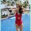 SM-V1-663 ชุดว่ายน้ำวันพีชสีแดงสด คอสายผูก เว้าใต้อก thumbnail 10