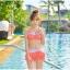 SM-V1-364 ชุดว่ายน้ำเซ็ต 3 ชิ้น สีส้มลายจุดขาว น่ารักๆ (บรา+บิกินี่+กระโปรง) thumbnail 13