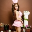 SL-I1-216 ชุดกระต่าย Bunny สีชมพูหวาน thumbnail 5