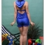 SM-V1-371 ชุดว่ายน้ำเซ็ต 4 ชิ้น สีน้ำเงินสวย บรา+บิกินี่ เสื้อคลุม+กางเกงขาสั้น thumbnail 8