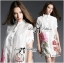 Lady Claire Flower Embroidered Organza and Cotton Shirt Dress L201-75C11 thumbnail 5