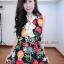 เดรสชีฟอง สไตล์สาวเกาหลีน่ารักๆ แต่งคอผูกเป็นโบว์เก๋ๆๆพร้อมเชือกทองผูกเอว thumbnail 5