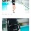 SM-V1-577 ชุดว่ายน้ำแขนยาวซิปหน้า กางเกงขาสั้น สีดำแต่งขอบขาว thumbnail 7
