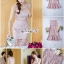 Dress Pink Embroidery Lace Lady Sweet thumbnail 1