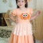 Lovely Owl Dress ชุดเดรสเด็กสีส้ม thumbnail 1