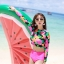 SM-V1-539 ชุดว่ายน้ำแขนยาว ลายดอกไม้ สีชมพูสดใส thumbnail 7