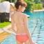 SM-V1-364 ชุดว่ายน้ำเซ็ต 3 ชิ้น สีส้มลายจุดขาว น่ารักๆ (บรา+บิกินี่+กระโปรง) thumbnail 7