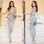 Lady Black&White Checkmate Trousers Set L134-69C01 thumbnail 2